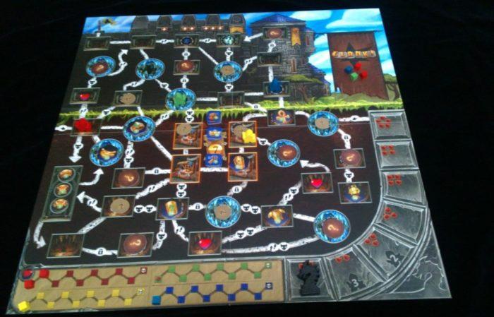 クランク! ゲームボード ダンジョンのマップ