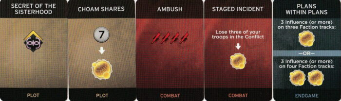 DUNE(砂の惑星)陰謀カードの画像