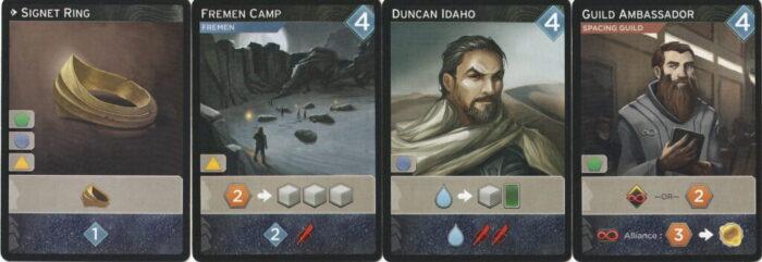 DUNE(砂の惑星)アクションカードの画像(資源取得系)